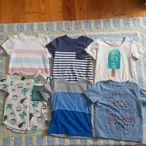 6 Baby Boy T-shirts 12m